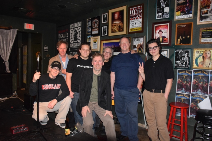 Here is Robert, Harrisen, Stensen and me with members of the Band. Carl is in between Harrisen and me.