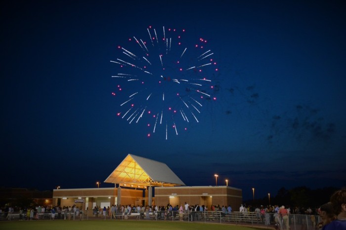 Fireworks marked the end of the ceremony as the students left the field as graduates.