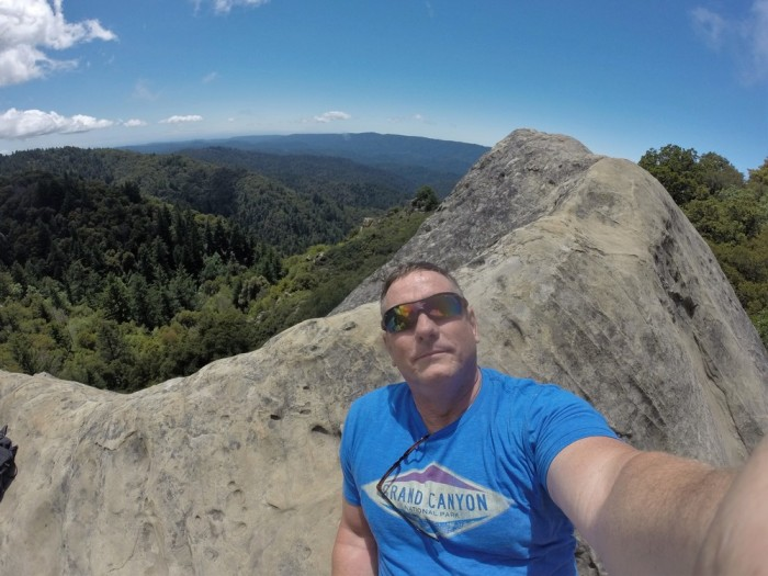 The view from the of Goat Rock, the rock that the climbers were climbing.