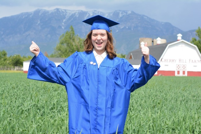 Not sure what graduation has to do with this mountain backdropped farm