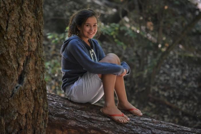 Juju on a fallen tree