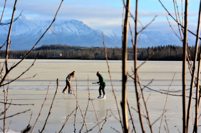Hockey on Lake Wasilla