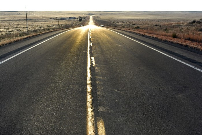 The wide open road through New Mexico